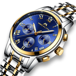Stainless Steel Luxury Analogue Wrist Watch