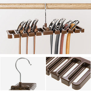 Multifuction Storage Rack Tie/Belt Organizer Rotating Ties Hanger