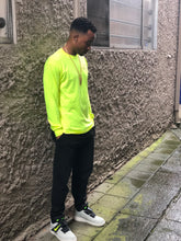Load image into Gallery viewer, BLACK MANNEQUIN - Safety Yellow Lemonade Crew Neck Long Sleeve T-Shirt