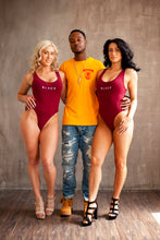 "Load image into Gallery viewer, BLACK MANNE""QUEEN"" -  Maroon ""BLACK"" Bodysuit"