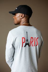 "BLACK MANNEQUIN - ""PARIS"" TEE - Crew Neck Long Sleeve T-Shirt"