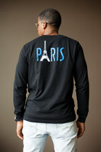 "Load image into Gallery viewer, BLACK MANNEQUIN - ""PARIS"" TEE - Crew Neck Long Sleeve T-Shirt"