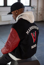 Load image into Gallery viewer, BLACK MANNEQUIN - LETTERMAN'S JACKET W/ CUSTOM NAME