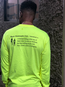 BLACK MANNEQUIN - Safety Yellow Lemonade Crew Neck Long Sleeve T-Shirt