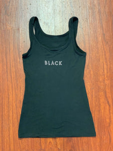 "BLACK MANNE""QUEEN"" - Sexy ""BLACK"" Outline Logo Tank"
