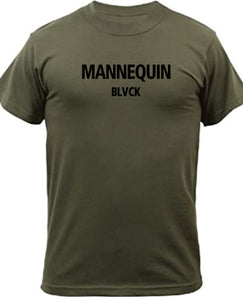 BLACK MANNEQUIN - Black Olive Crew Neck T-Shirt