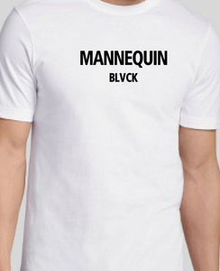 BLACK MANNEQUIN - White Mannequin Black Crew Neck T-Shirt