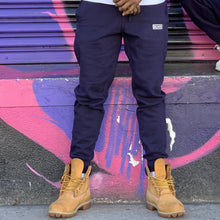 Load image into Gallery viewer, BLACK MANNEQUIN  - Navy Drip Joggers
