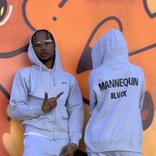 Load image into Gallery viewer, BLACK MANNEQUIN  - Grey Drip Zip Hoodie