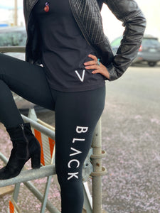 "BLACK MANNE""QUEEN"" - Black V Neck TShirt"