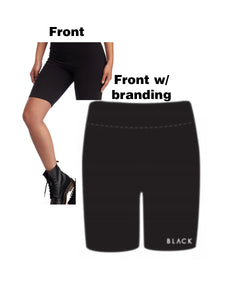 "BLACK MANNEQUIN  -  ""Black"" Super Soft Biker Shorts"