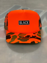 Load image into Gallery viewer, BLACK MANNEQUIN - Blamo Camo Hat Orange