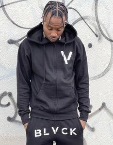 BLACK MANNEQUIN - Nino Brown Zip Up Hoodie