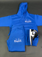 "Load image into Gallery viewer, BLACK MANNEQUIN - ""Royal""ty Blue Joggers"