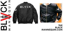 "Load image into Gallery viewer, BLACK MANNEQUIN  - ""Mike Lowerrry"" Bomber Jacket"