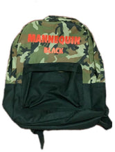 Load image into Gallery viewer, BLACK MANNEQUIN - The Camo Backpack