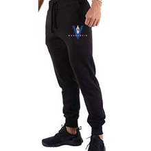"Load image into Gallery viewer, BLACK MANNEQUIN  - BLUE V ""Money Mitch"" Joggers"