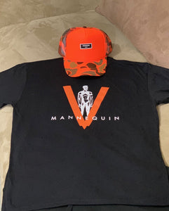 BLACK MANNEQUIN - Orange Big V - Crew Neck T-Shirt