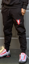 "Load image into Gallery viewer, BLACK MANNEQUIN  - RED V ""Money Mitch"" Joggers"