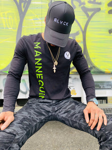 BLACK MANNEQUIN - Slime Green Long Sleeve T-Shirt