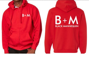 BLACK MANNEQUIN - Brains + Money Zip Up Hoodie