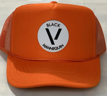 Load image into Gallery viewer, BLACK MANNEQUIN - Vitamin C Orange Trucker