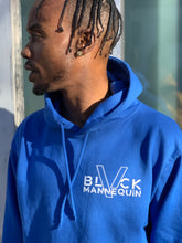 "Load image into Gallery viewer, BLACK MANNEQUIN - ""Royal""ty Blue Hoodie"