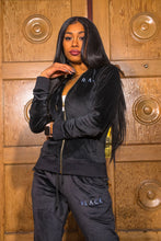 "Load image into Gallery viewer, BLACK MANNE""QUEEN"" - Less is More Velour 2 Piece Black"