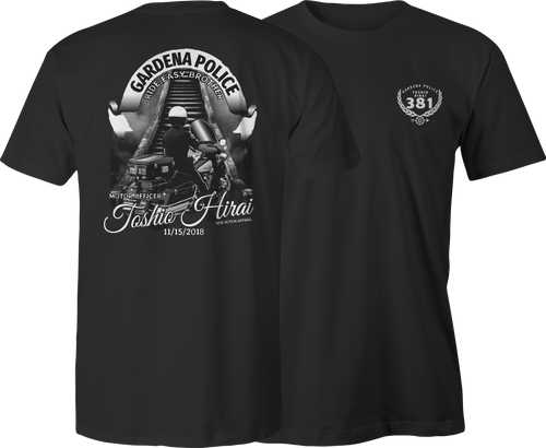 Gardena Police Dept Officer Hirai Tribute T-Shirt
