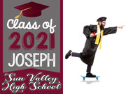 Custom 2021 Student Graduation Yard Sign with H-Stake