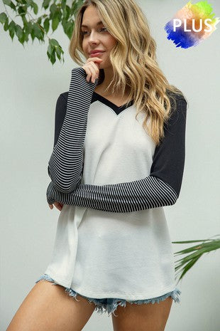 Contrast Long Sleeve