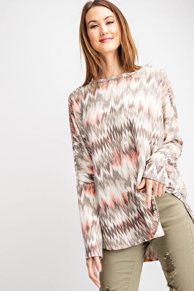 Tribal Print Pullover