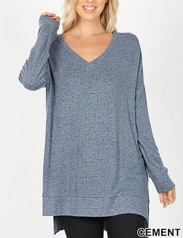 V Neck Cozy Tunic