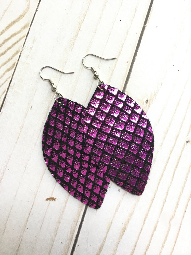 Fuchsia on Black Metallic Scales