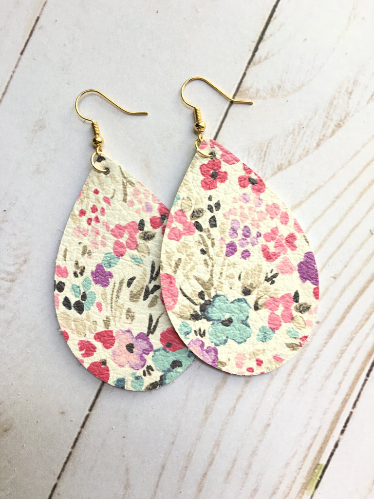 Watercolor Floral Earrings
