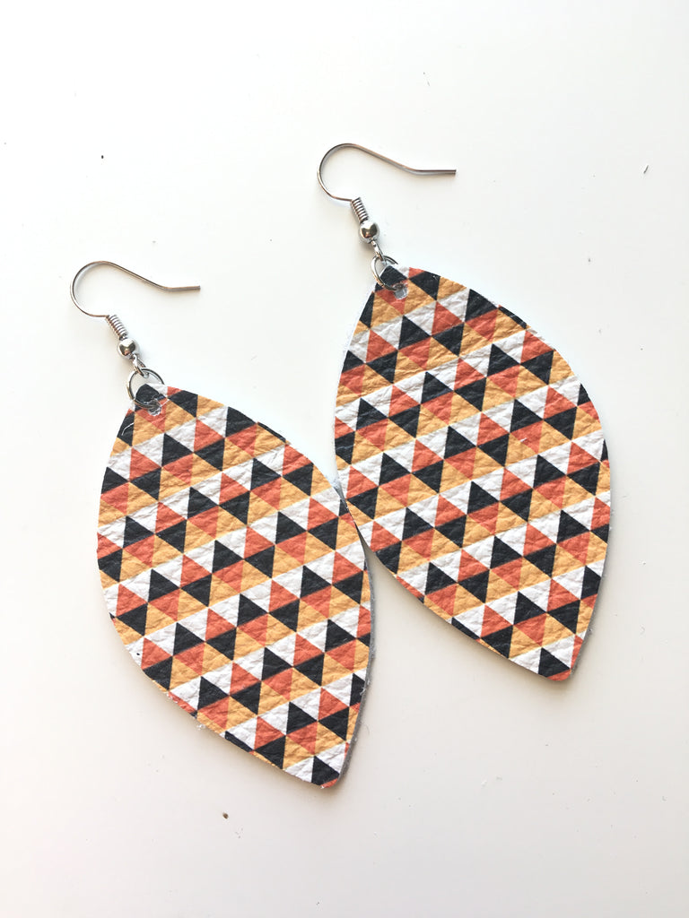 Fall Triangles Earrings