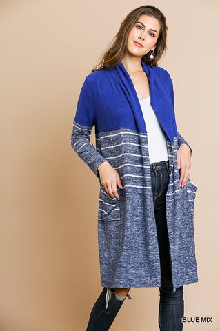 Stripe Duster Cardigan