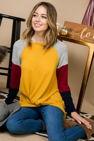 Colorblock Twisted Sweater