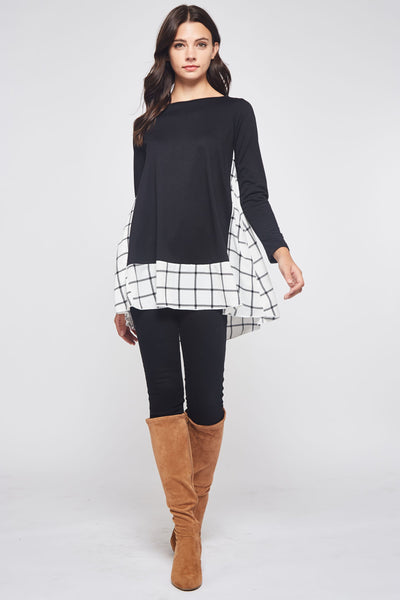 Plaid to See You Tunic