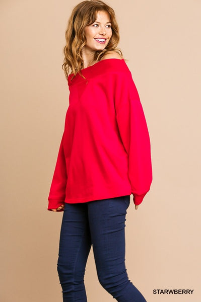 Sneak a Peek Shoulder Sweater