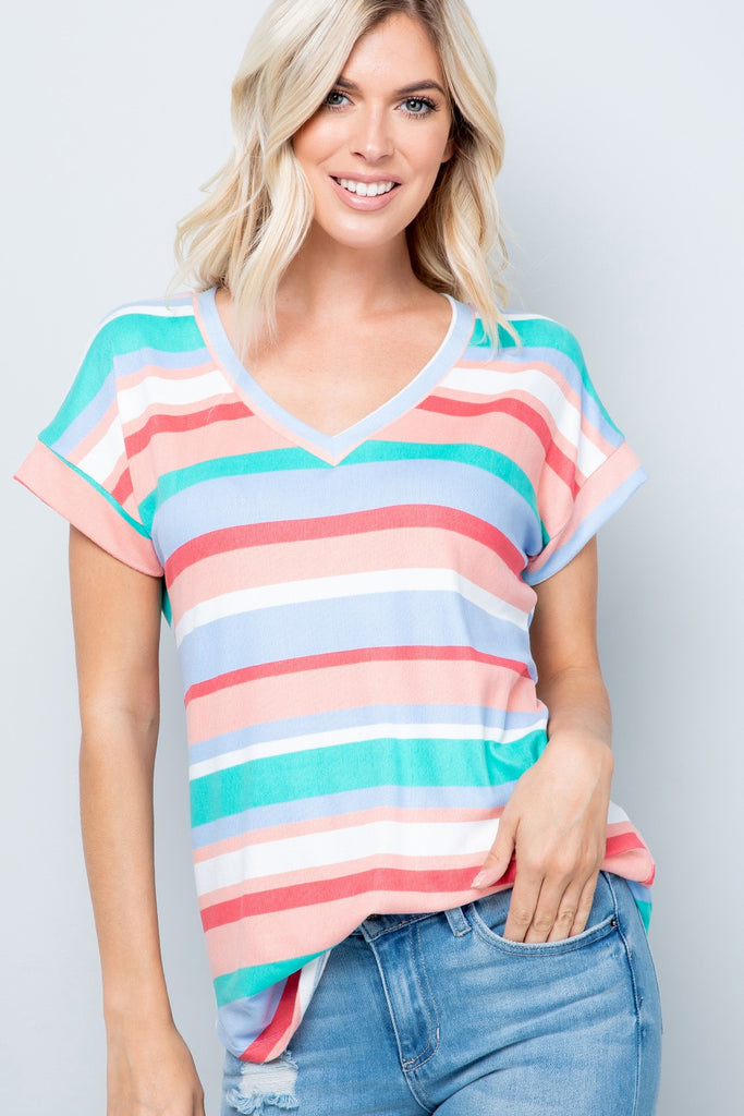 Spring Into Stripes T