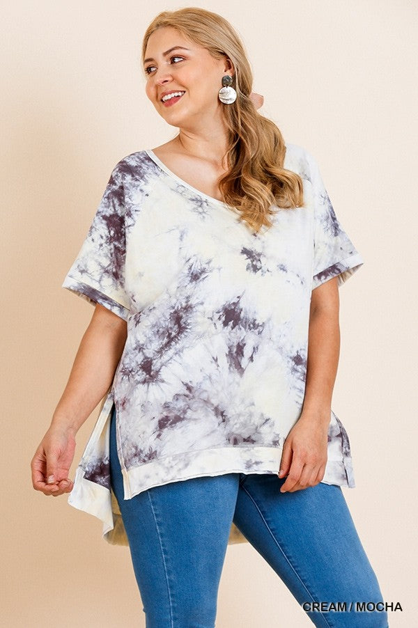 Neutral Tie Dye Relaxed T