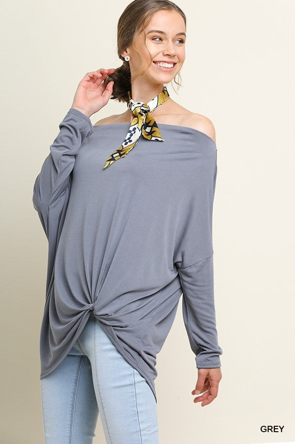 Off the Shoulder Side Knot Top
