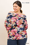 Flirty Shoulder Floral Top