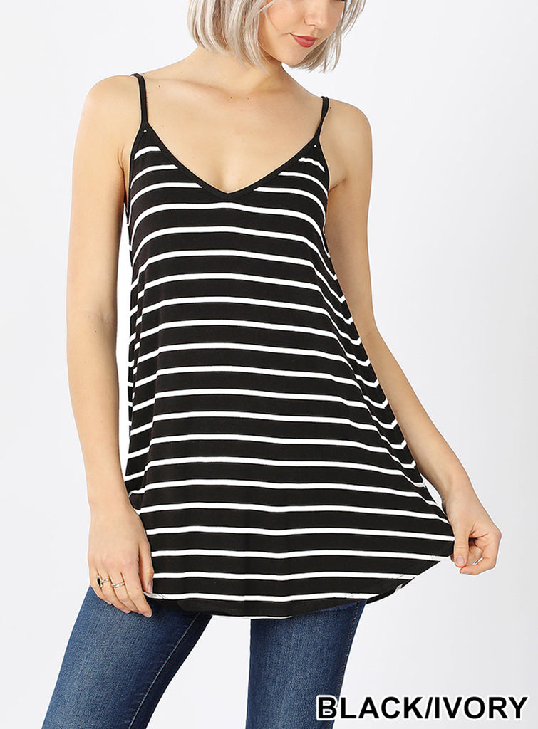 Sunshine Striped Reversible Tank
