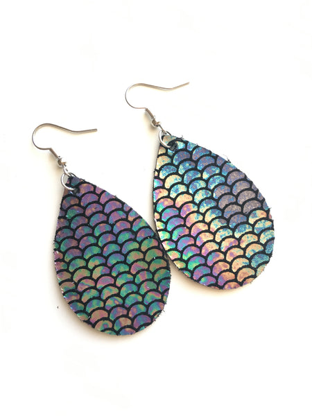 Magic Mermaid Leather Earrings