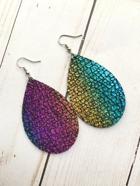 Lisa Frank Leather Earrings