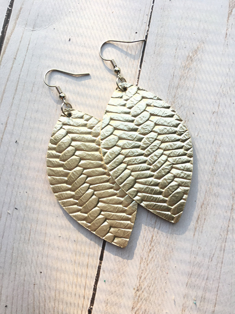 Champagne Braided Earrings