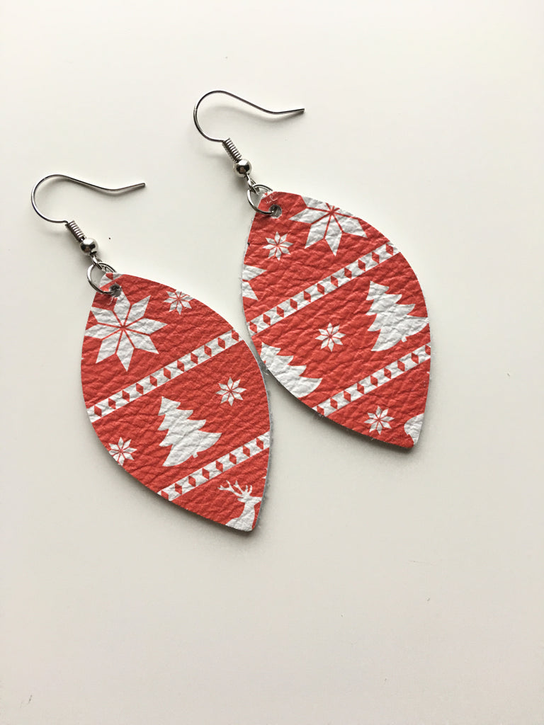 Winter Red Earrings