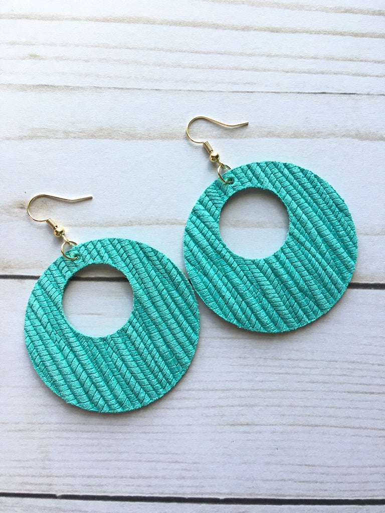 Teal Luna Earrings